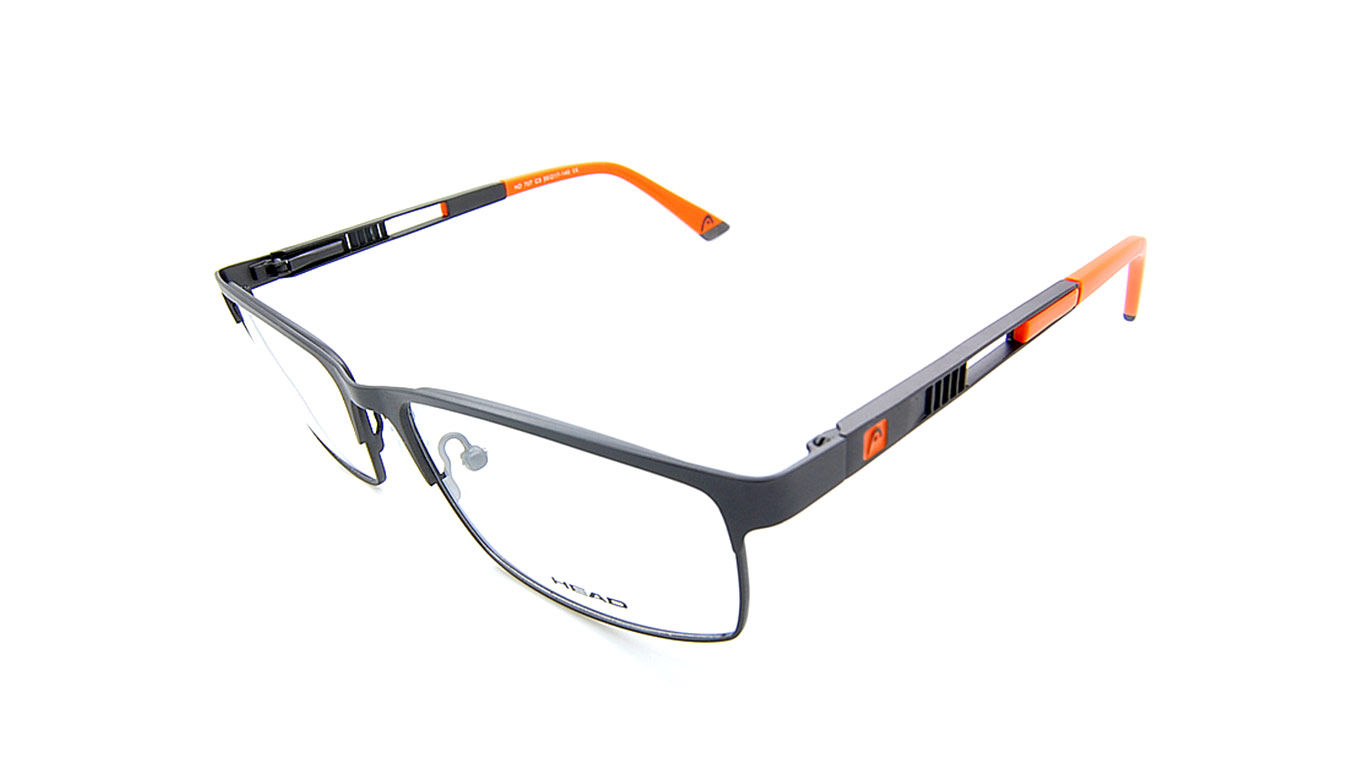 Head 707 - Grey (3 Gunmetal/Orange)