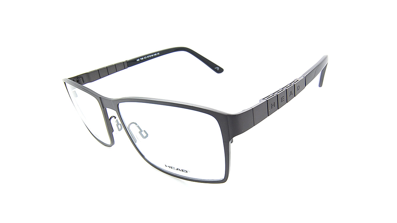 Head 708 Titanium - Matt Black (3 Dark Grey)